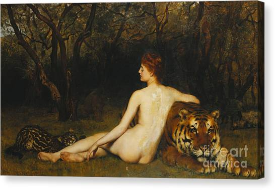 Tiger Woods Canvas Print - Circe by John Collier