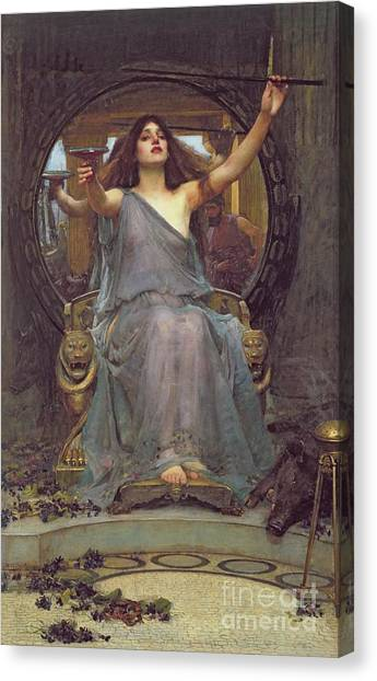 John William Waterhouse Canvas Print - Circe Offering The Cup To Ulysses by John Williams Waterhouse