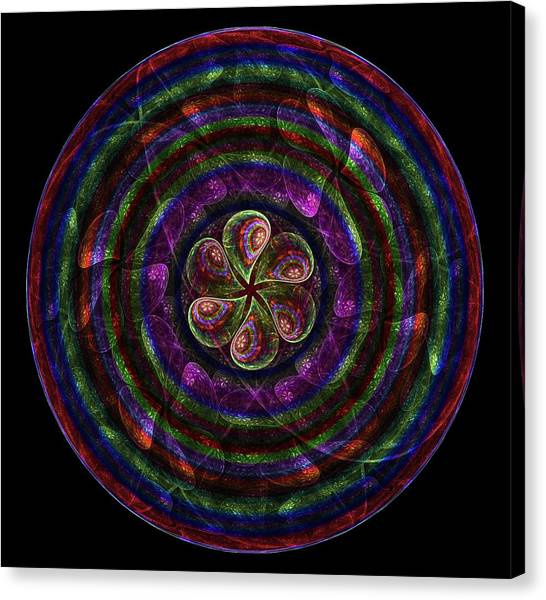 Canvas Print featuring the digital art Circle Flower by Angie Tirado