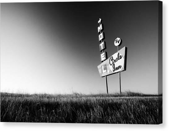 Sign Canvas Print - Circle Inn by Todd Klassy