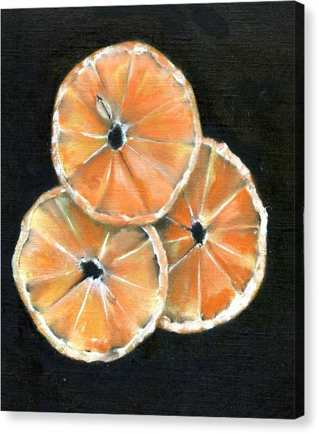 Circle Of Orange Canvas Print by Penny Everhart