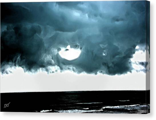 Circle Of Storm Clouds Canvas Print