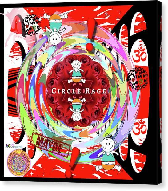 Circle Rage Canvas Print