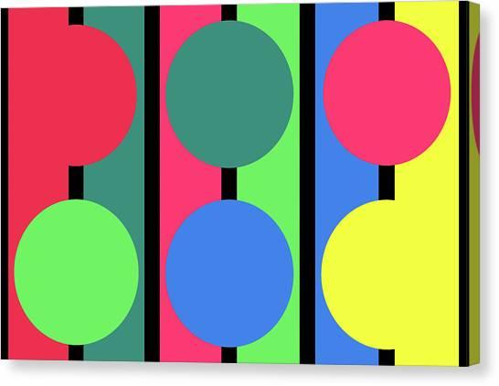 Circle Stripe - Winter Canvas Print