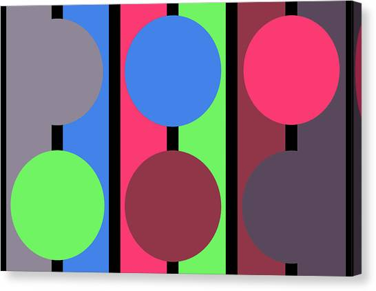 Circle Stripe - Zentao Canvas Print