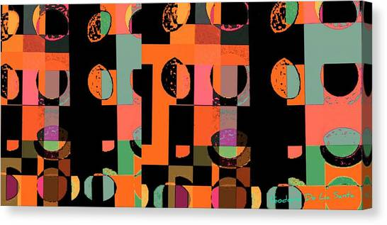 Circle Study Number 75 Canvas Print by Teodoro De La Santa