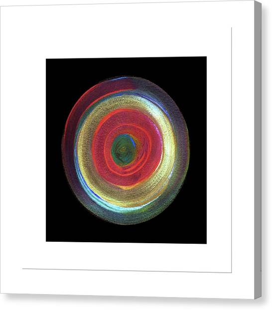 Circled Canvas Print by Mimo Krouzian