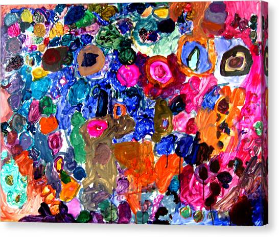 Circles Canvas Print by Janice Michaud