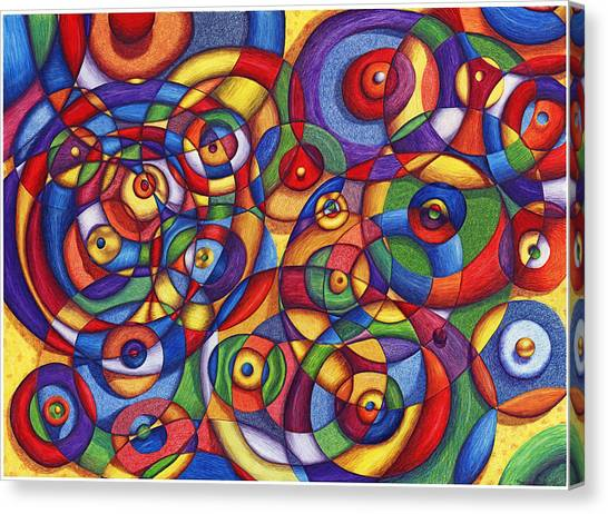 Circles Canvas Print by Maureen Frank The Mandala Lady