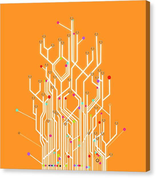 Computer Science Canvas Print - Circuit Board Graphic by Setsiri Silapasuwanchai