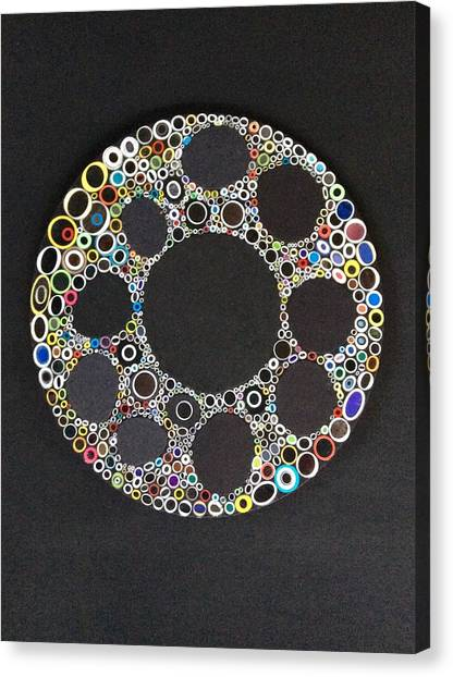 Circular Convergence Of Mutated Molecules Canvas Print