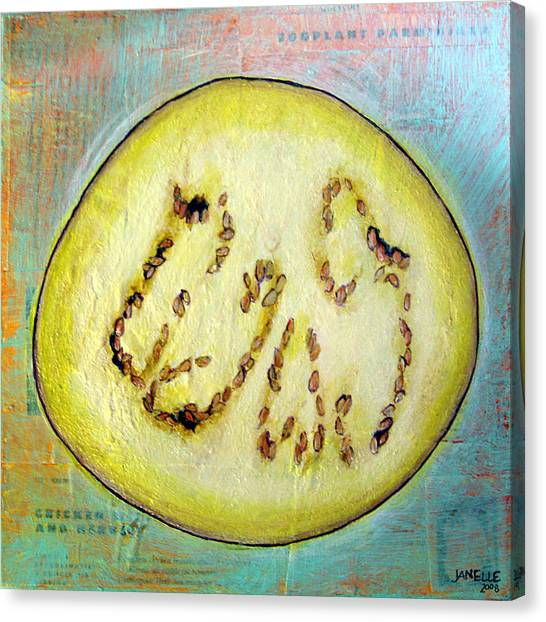 Circular Food  - Eggplant Canvas Print