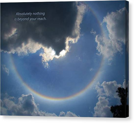 Circular Rainbow Inspiration Canvas Print