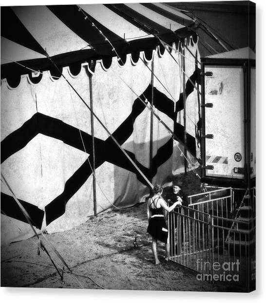 Circus Conversation Canvas Print