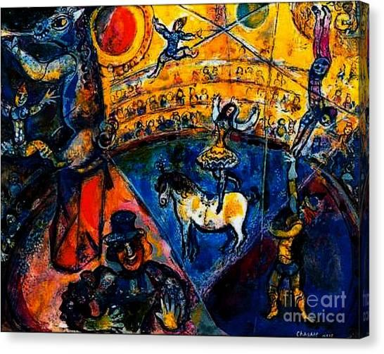 Circus Horse Canvas Print