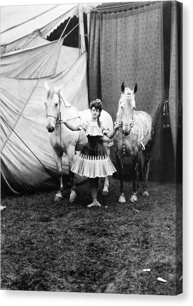 Bareback Canvas Print - Circus: Rider, C1904 by Granger