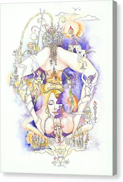 Cirque Du Huntey Canvas Print by Igor Khunteyev