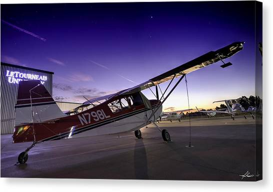 Citabria In The Twilight Of Dawn Canvas Print