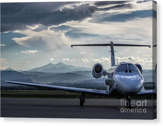 Cessnas Canvas Print - Citation Sunset by Nathan Gingles