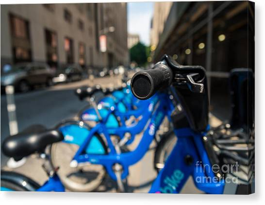 Citibike Handle Manhattan Color Canvas Print
