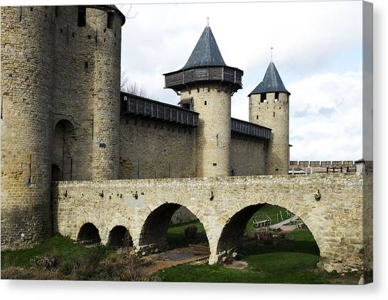 Citie De Carcassone Canvas Print