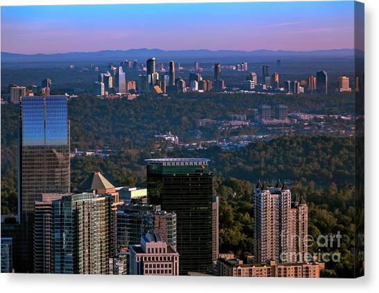 Cities Of Atlanta Canvas Print