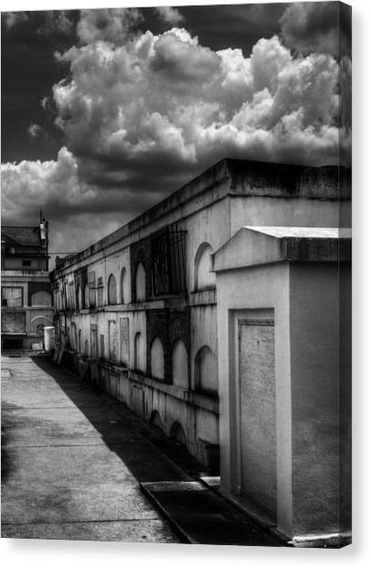 Cities Of The Dead In Black And White Canvas Print