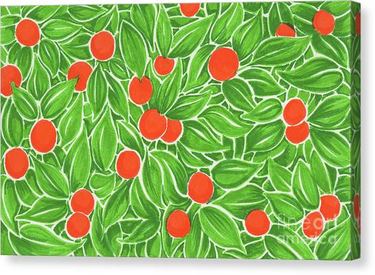 Citrus Pattern Canvas Print