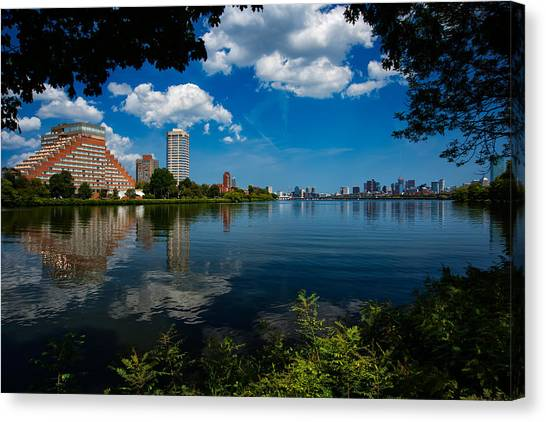 City Along The Charles Canvas Print