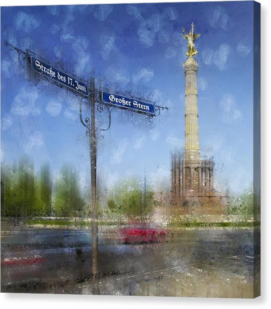 Deutschland Canvas Print - City-art Berlin Victory Column by Melanie Viola