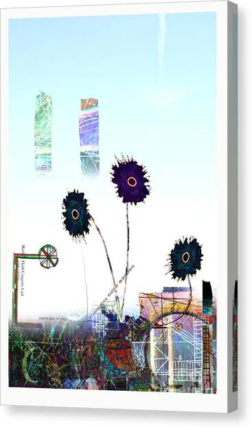 Andy Bloom Canvas Print - City Blooms by Andy  Mercer