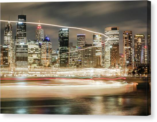 City Blur Canvas Print