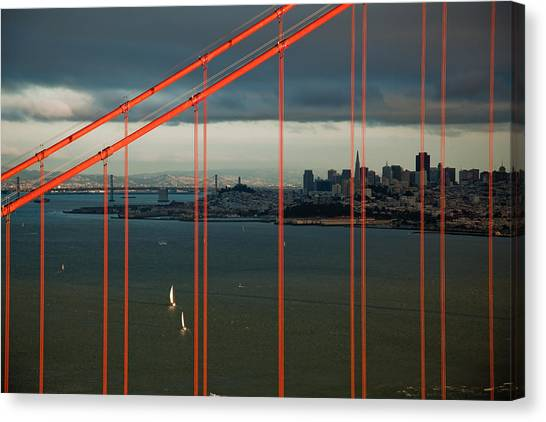 City By The Bay Canvas Print by Patrick  Flynn
