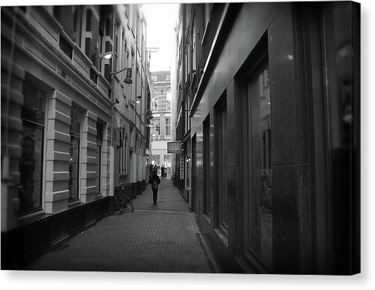 Canvas Print featuring the photograph City Center 4 by Scott Hovind