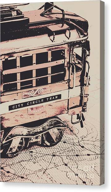 Victoria Canvas Print - City Circle Street Artwork by Jorgo Photography - Wall Art Gallery