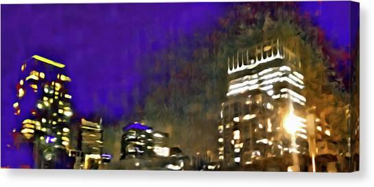 City Flames Canvas Print