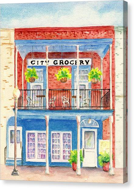City Grocery Oxford Mississippi  Canvas Print
