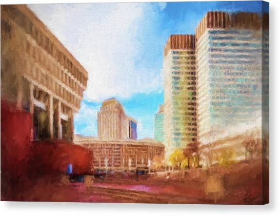 City Hall At Government Center Canvas Print