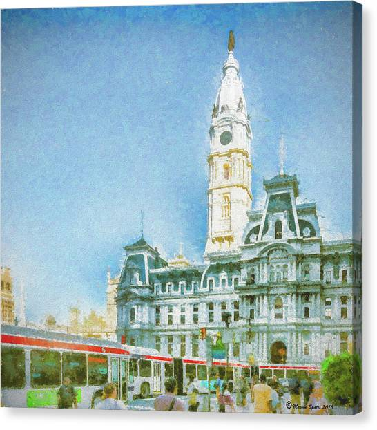 Philly Canvas Print - City Hall by Marvin Spates