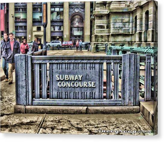 City Hall Sidewalk Canvas Print