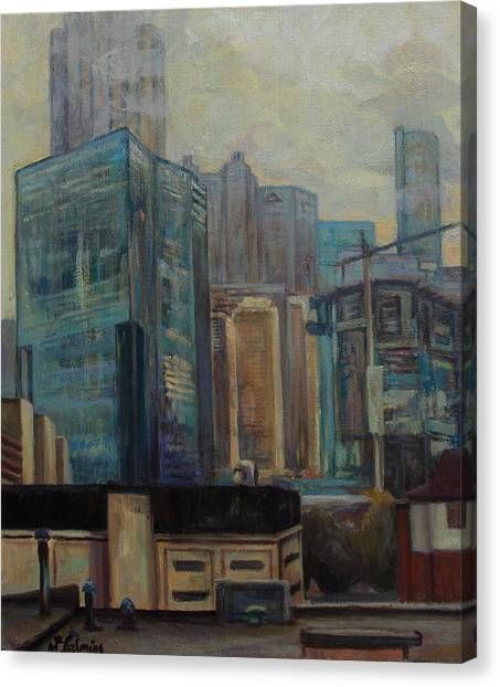 City In The Cityscape Canvas Print by Maris Salmins