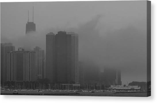 Metropolis Canvas Print - City In The Mist... by Adam Timothy Strachn