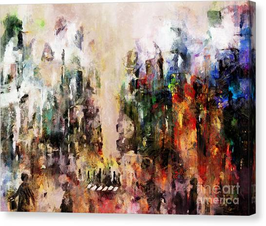 Canvas Print featuring the photograph City Life by Claire Bull