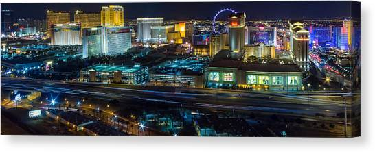 City Lifescape View Las Vegas Canvas Print