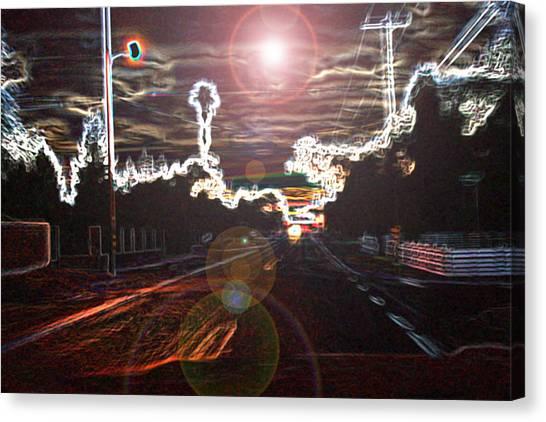 City Lights Canvas Print by Joshua Sunday