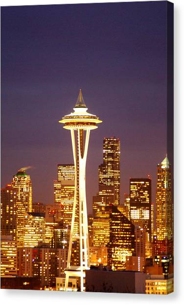 City Lights Canvas Print by Sonja Anderson