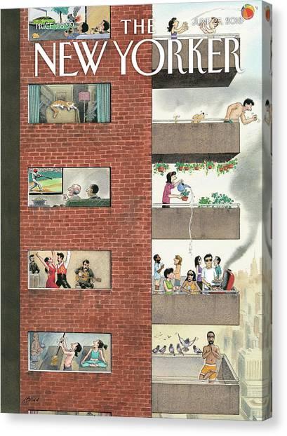 City Living Canvas Print