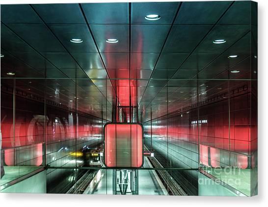 City Metro Station Hamburg Canvas Print