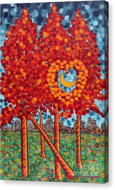 City Moonshine Canvas Print