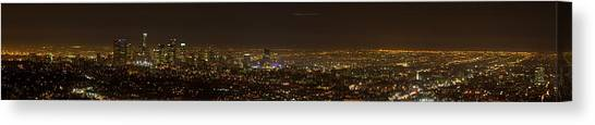 City Of Angels Panorama Canvas Print